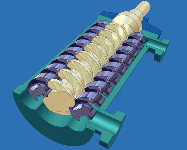 статор и ротор спиралевидной формы