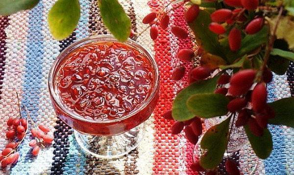 барбарисовое варенье с ванилью