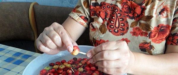 маленькие яблочки наколоть зубочисткой