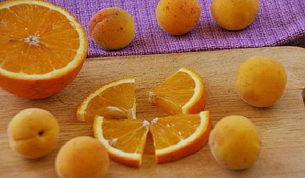разрезать апельсин для компота
