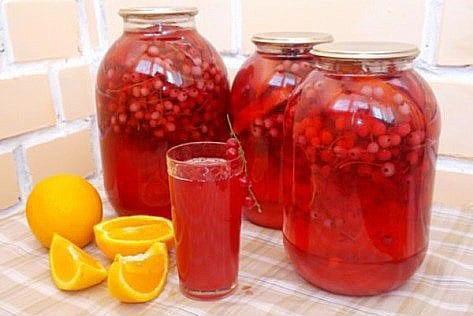 компот из красной смородины и апельсина