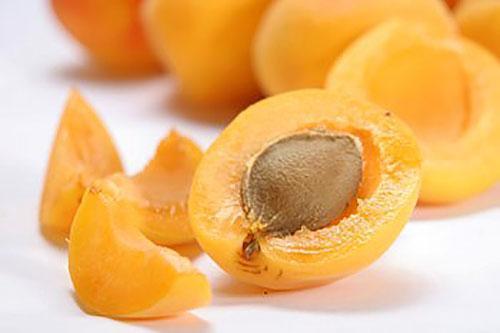 косточка спелого абрикоса