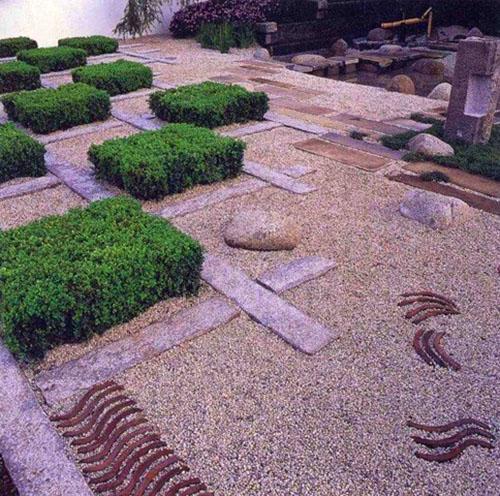 каменные клумбы