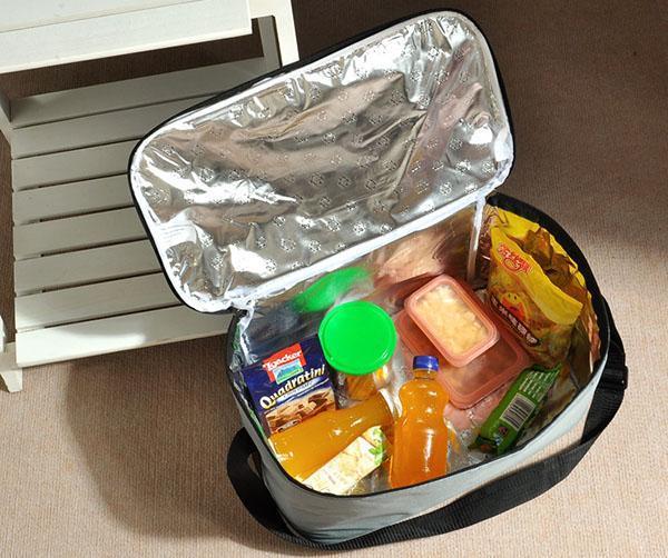 продукты в сумке-холодильнике