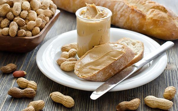 арахисовая паста на завтрак