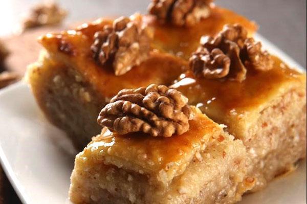 пахлава с грецким орехом и медом
