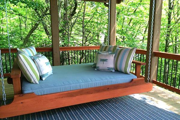 подвесные качели-кровать
