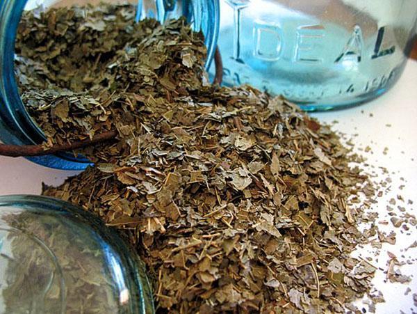 сушеные листья грецкого ореха
