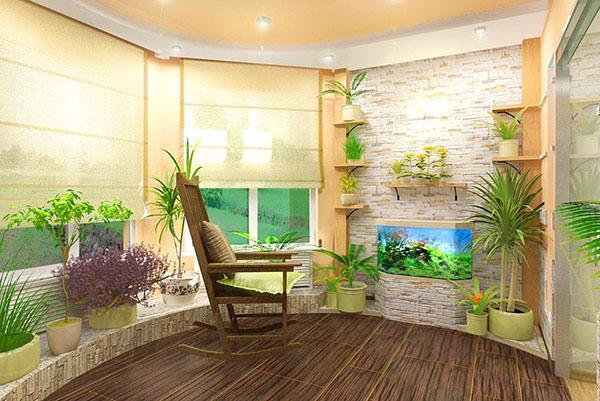 зимний сад в комнате отдыха