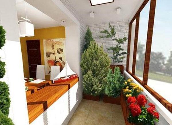 зимний сад в кухне