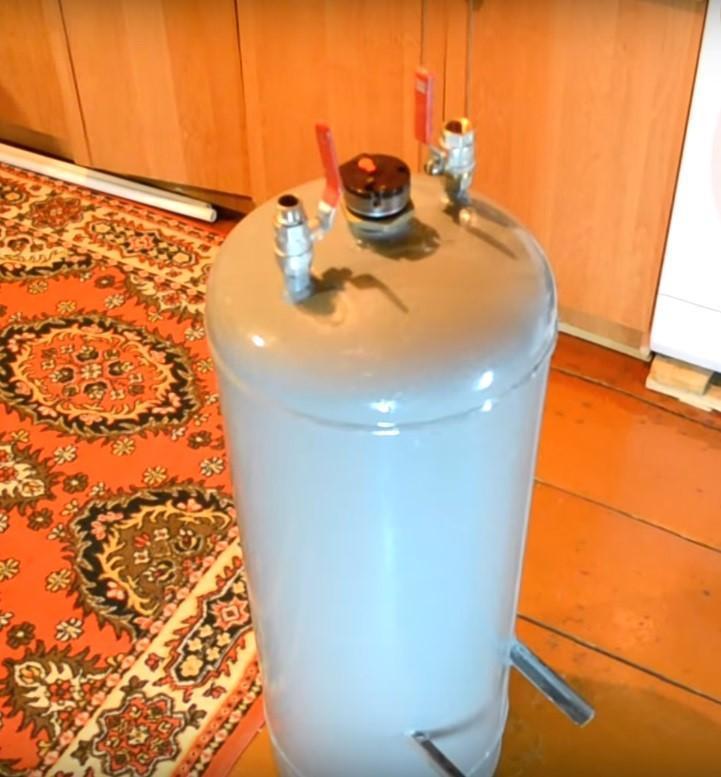 бойлер из газового балона