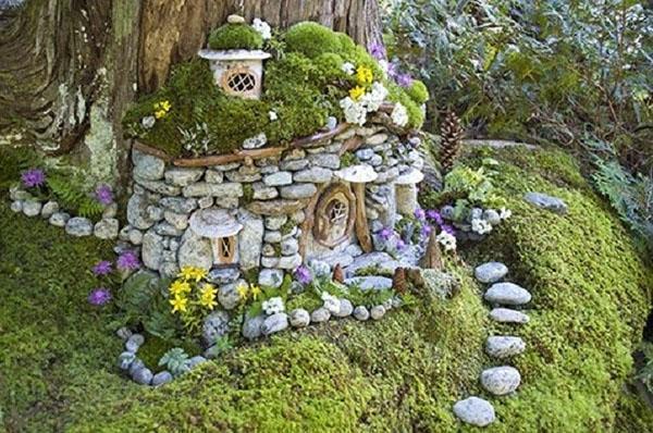 композиция с использованием декоративных камней