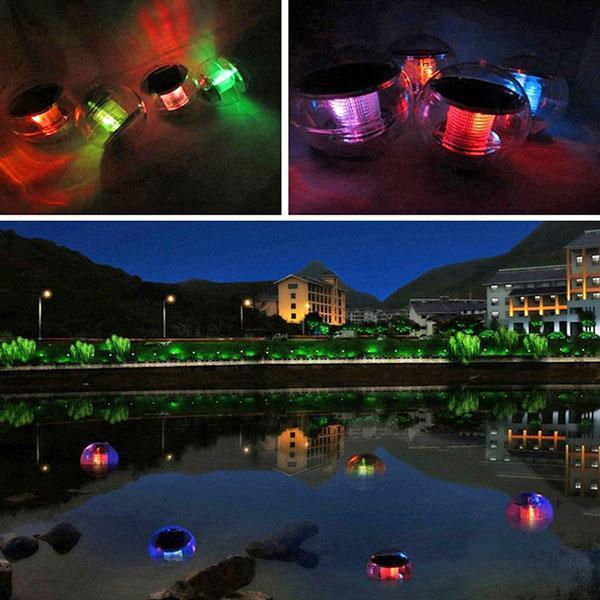 освещение водоемов плавающими светильниками