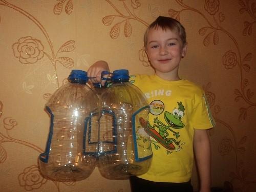 простые кормушки из бутылей