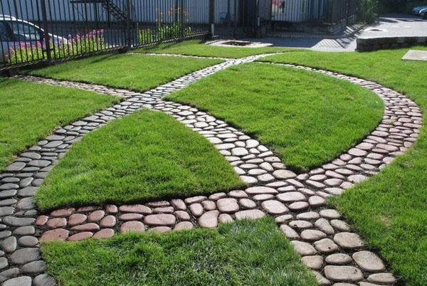 комбинированные садовые дорожки