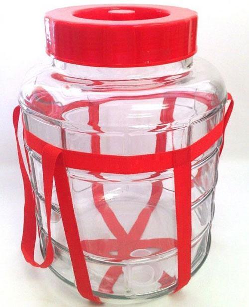 бутыль с гидрозатвором для приготовления вина