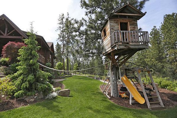 игровая площадка с использованием дерева