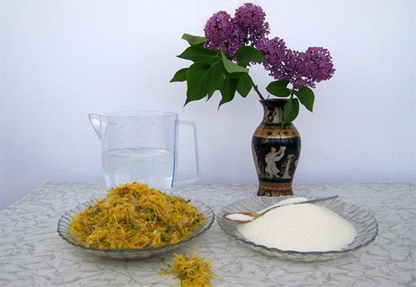 ингредиенты для одуванчикового варенья