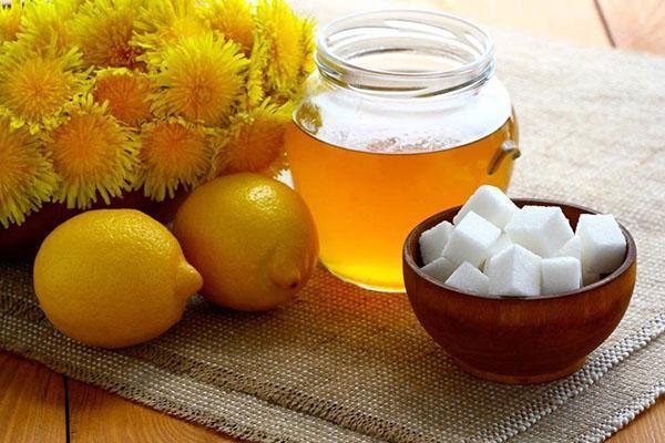 ингредиенты для приготовления меда из одуванчика