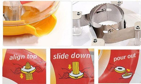 устройство ручного прибора для чистки кукурузы