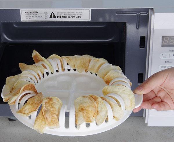 приготовление чипсов для микроволновки