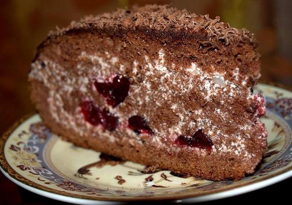 Торт пьяная вишня пошаговый рецепт с фото в домашних условиях