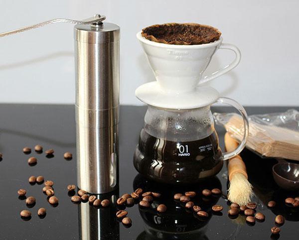 кофе из свежемолотых зерен