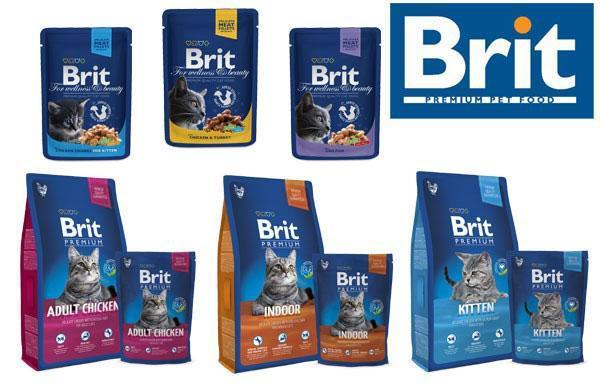разновидность корма Брит для кошек