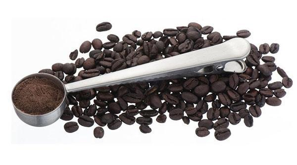 мерная ложка с зажимом для кофе
