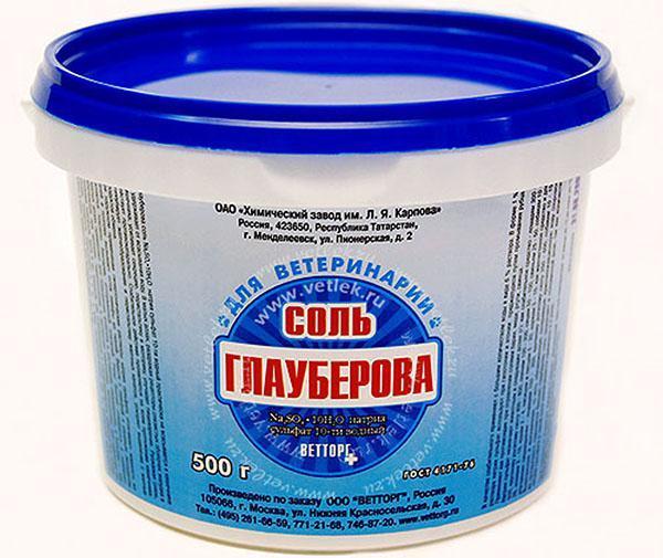 глауберова соль для приготовления аккумулятора холода