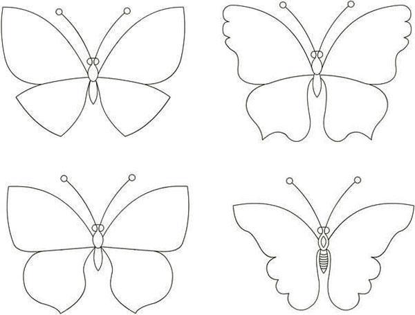 шаблоны бабочек для люстры