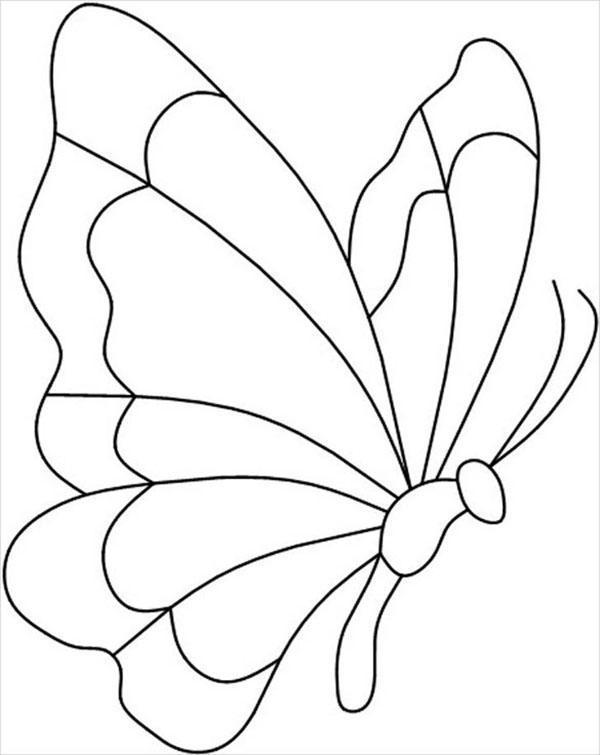 бабочка сбоку