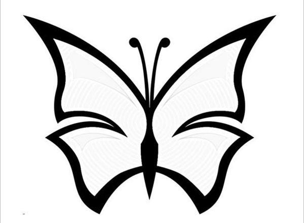 простая бабочка