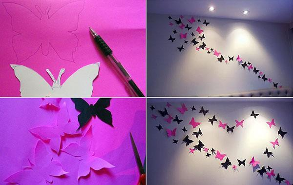 Как сделать бабочек на всю стену 961