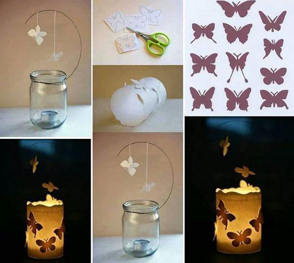 волшебный фонарь из бабочек