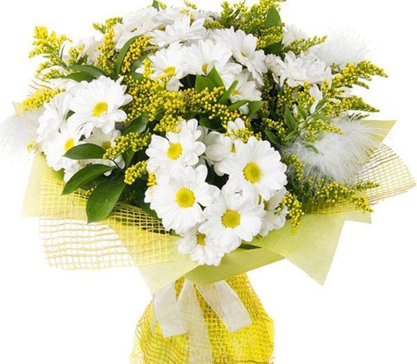 бело-желтый букет