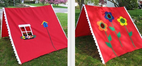 красочная палатка