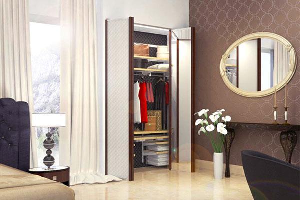 распашные двери в гардеробной
