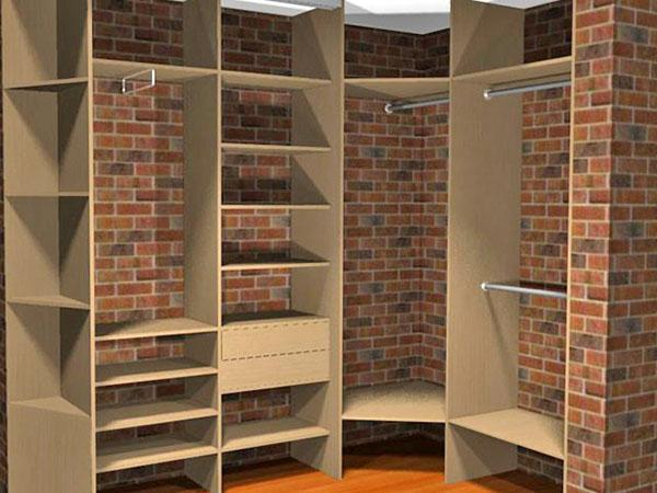 самодельная гардеробная в маленькой комнате