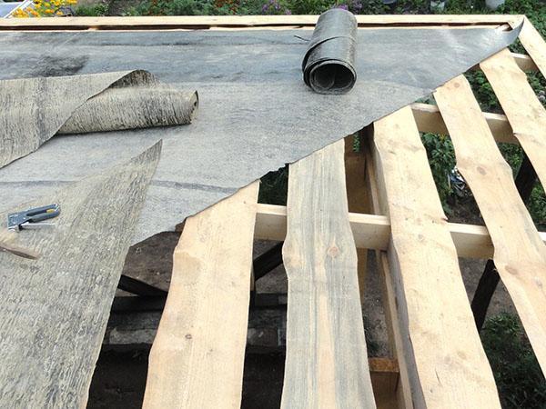 крыша беседки из рубероида