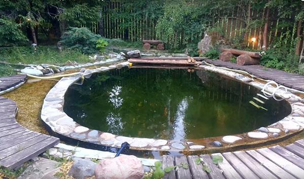 обустройство бассейна на даче
