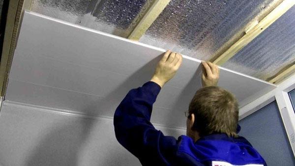 монтаж потолочной панели