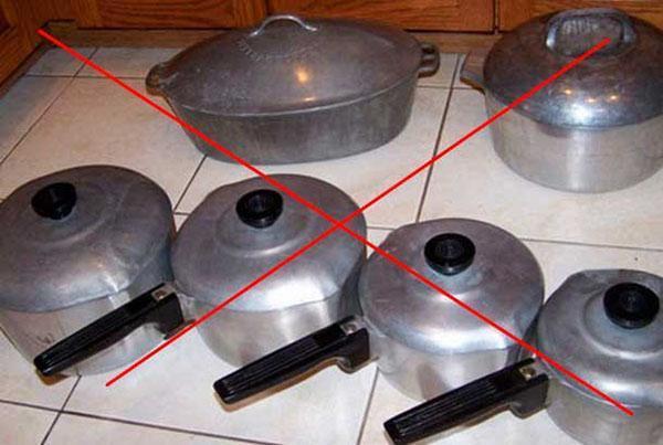 не пригодная для приготовления варенья посуда