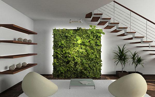 живая стена в гостиной