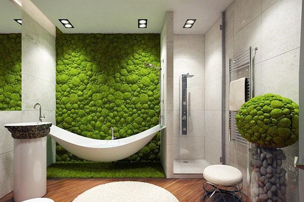 живая стена в ванной комнате