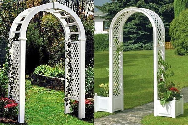 модели садовых арок из пластика