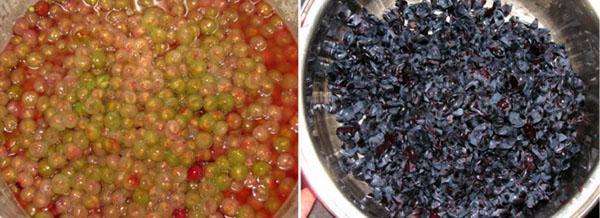 отделить ягоды от кожуры