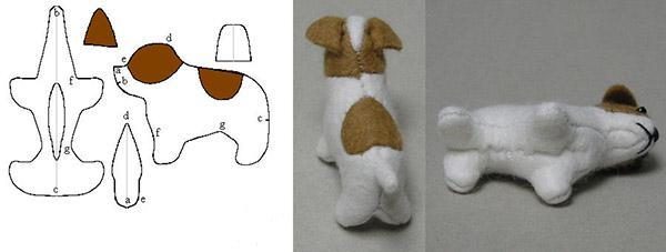елочная игрушка собачка объемная