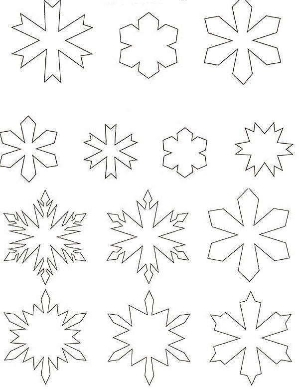 шаблоны снежинок для елки