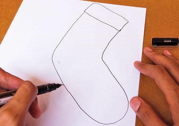 готовим шаблон выкройки сапожка